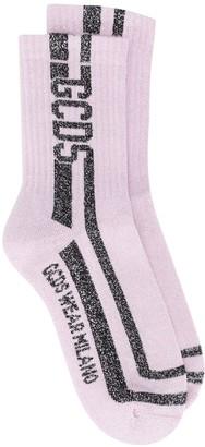 GCDS Glitter-Stripe Socks