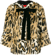 Twin-Set leopard print faux fur jacket