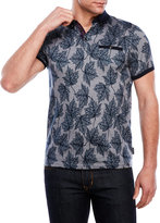 Ted Baker Fastfil Leaf Print Oxford Polo