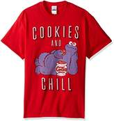 Sesame Street Men's Cookie Monster Chill T-Shirt