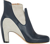 Maison Margiela WOMEN'S TWO-TONE ANKLE BOOTS-NAVY SIZE 11