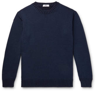 Inis Meáin Slim-Fit Merino Wool, Baby Alpaca And Silk-Blend Sweater