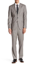 Kenneth Cole New York Glen Plaid Two Button Notch Lapel Wool Suit