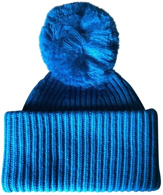 Acne Studios Blue Wool Hats