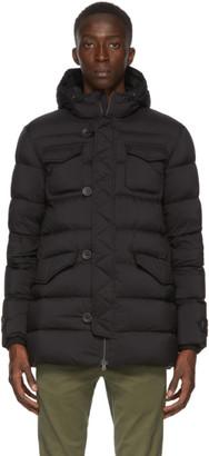 Herno Black Down Classic Matte Nylon Jacket