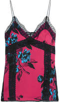McQ Decon Lace-trimmed Printed Camisole - Pink