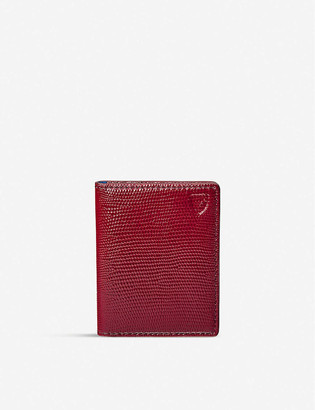 Aspinal of London ID and travel card grained leather case