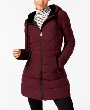 INC International Concepts Inc Velvet-Trim Puffer Coat, Created for Macy's