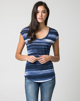Le Château Stripe Jersey Knit Top