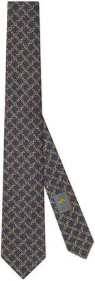 Gucci Interlocking G Horsebit silk tie