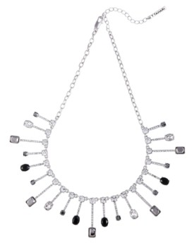 T Tahari Mixed Gems Statement Necklace