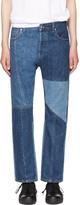 Alexander McQueen Indigo Patchwork Kickback Jeans