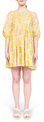 N. Whit Pintuck Cotton Dress
