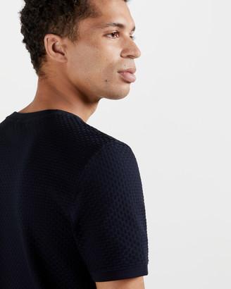 Ted Baker CARAMEL Textured cotton T-shirt