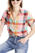 J.Crew Women's Rainbow Vintage Plaid Lightweight Popover Shirt