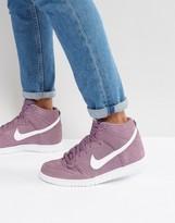 Nike Dunk Hi Trainers In Purple 904233-500