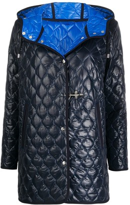 Fay Quilted Button Jacket