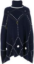 Michel Klein knit large stitch poncho