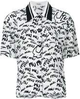 Miu Miu monogram signature shirt