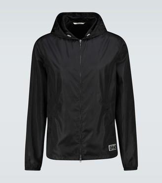 Valentino Nylon hooded jacket with logo
