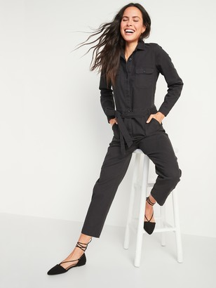 Old Navy Tie-Belt Utility Canvas Jumpsuit for Women