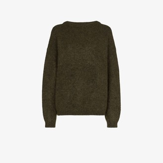 Acne Studios Green Oversized Knit Sweater