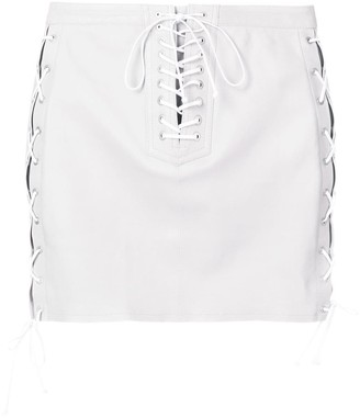 Unravel Project lace-up skirt