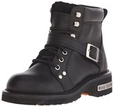 "AdTec Women's 6"" Lace Zipper Boot Black Work Boot"