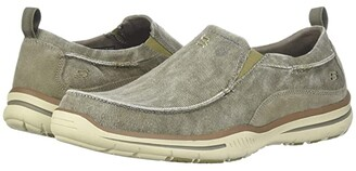 Skechers Relaxed Fit Elected - Drigo (Charcoal Canvas) Men's Slip on Shoes