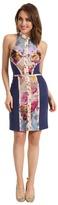 Nicole Miller Grace Stretch Crepe Dress (Multi) - Apparel