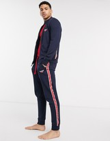 Emporio Armani Loungewear taped logo sweat sweatpants in navy