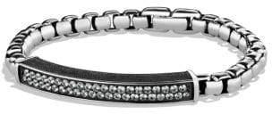 David Yurman Pave Id Bracelet With Gray Sapphires