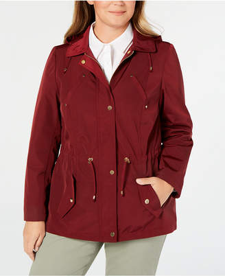 Charter Club Plus Size Water-Resistant Utility Jacket