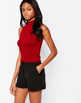 AX Paris High Neck Crop Top