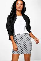 Boohoo Amal Star Print Mini Skirt