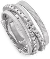 Marco Bicego 18K White Gold Goa Five Row Ring with Diamonds