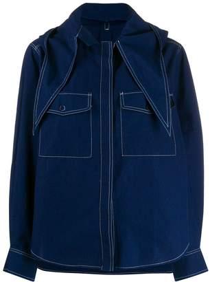 MAISON KITSUNÉ hooded denim shirt