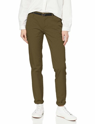 Scotch & Soda Women's Slim Fit Chino Sold with Belt Trouser