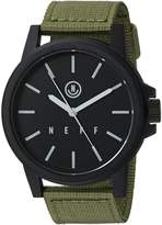 Neff Carbine Analog Watch with Woven Band Mens Accessory,