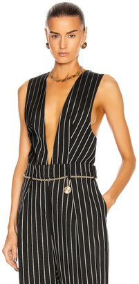 Alexandre Vauthier Pin Stripe Vest in Black | FWRD