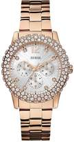 GUESS Dazzler Crystal and Multi-Function Dial Rose Gold Tone Ladies Watch