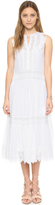 Rebecca Taylor Sleeveless Voile Lace Dress