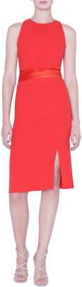 Akris Wool-Crepe Sheath Dress with Horsehair Waistband