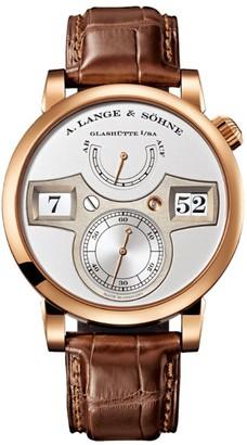 A. Lange & Söhne Rose Gold Zeitwerk Watch 41.9mm