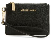 MICHAEL Michael Kors Women's Small Mercer Leather Rfid Coin Purse - Black