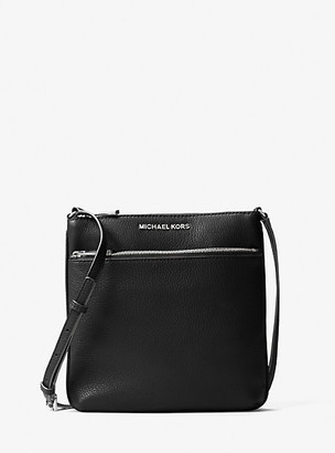 MICHAEL Michael Kors MK Riley Small Pebbled Leather Crossbody Bag - Black - Michael Kors