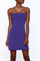 Susana Monaco Purple Strapless Dress