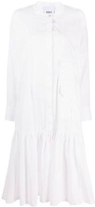 Erika Cavallini Ruffle Hem Shirt Dress