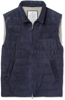 Brunello Cucinelli - Quilted Suede Down Gilet