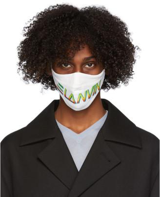 Lanvin Two-Pack Black and White Logo Face Masks